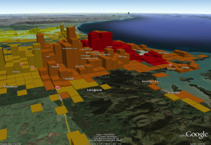 Christchurch: Population density vs. shaking intensity