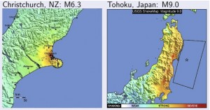 Christchurch vs. Tohoku.